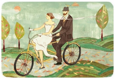 Bicycling in a Wedding Dress