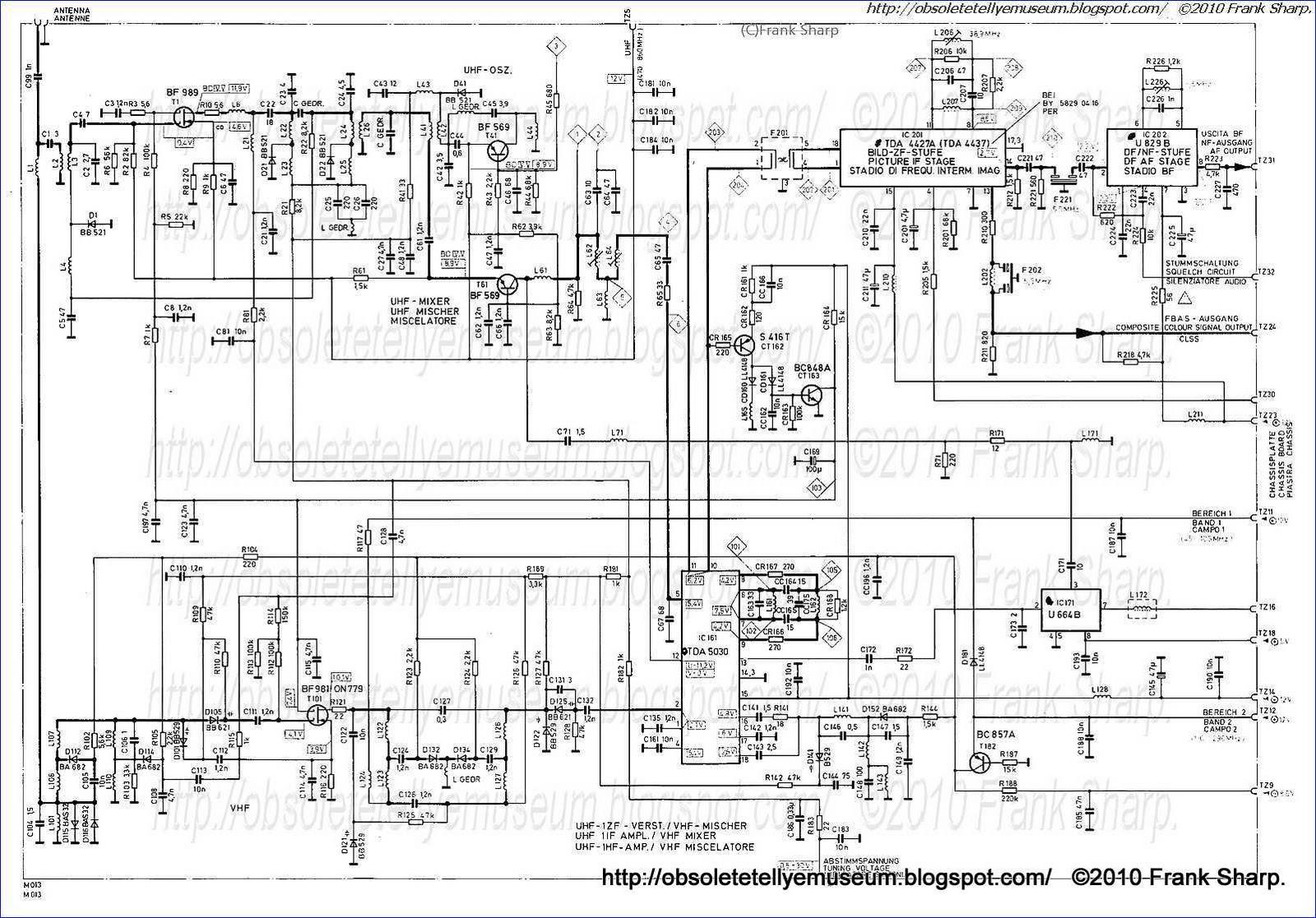 obsolete technology tellye    schaub lorenz  itt  8838 i chassis compact b2  110 u00b0 s4 sq internal