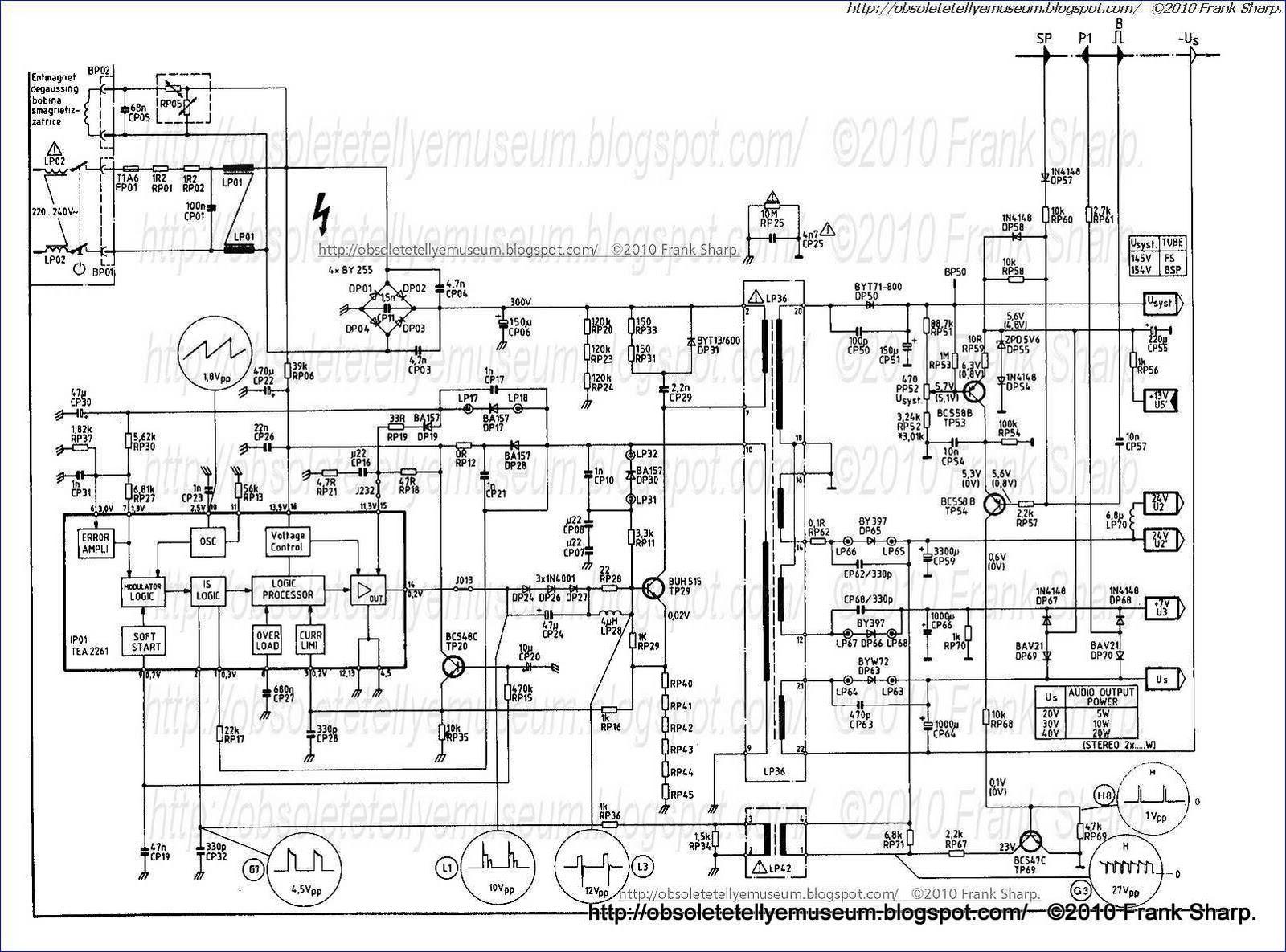 Obsolete Technology Tellye Telefunken Sr285 Icc8