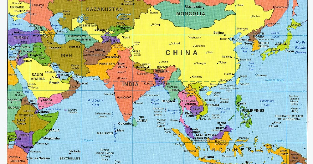 Titles of the asian countries