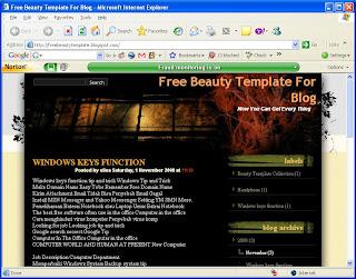 Black template Blogger
