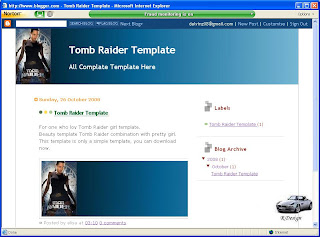 tomb raider template blog