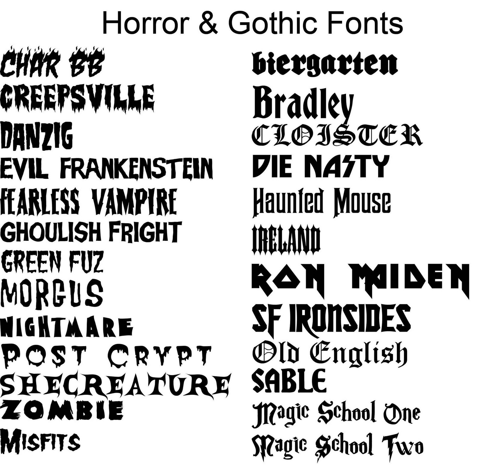Tattoo Lettering Fonts And Styles