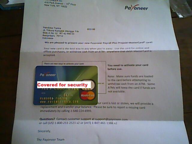 Payoneer prepaid debit mastercard paypal login