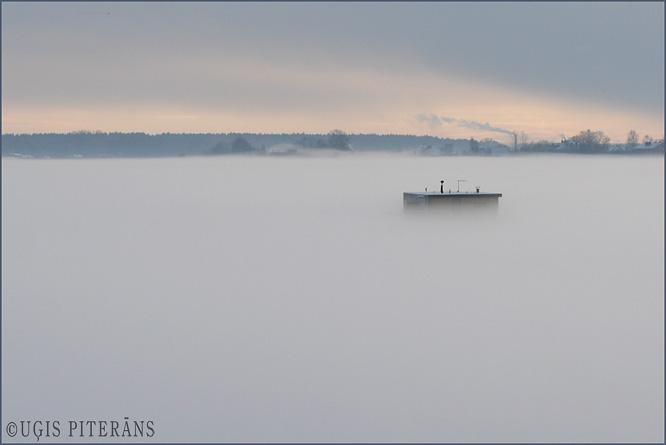 Daugava pie Ķengaraga ziemā