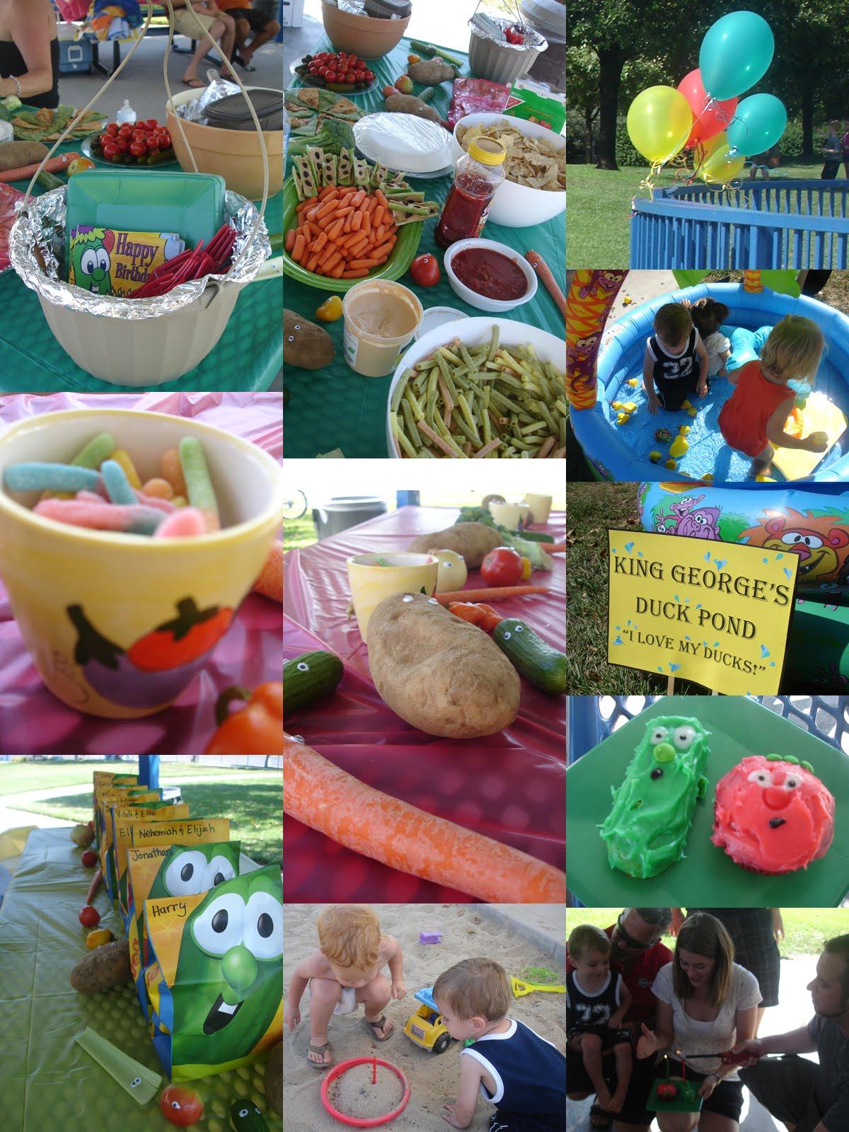 supplies Veggie tale party
