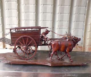 Tong S Collection 169 Wooden Bullcart