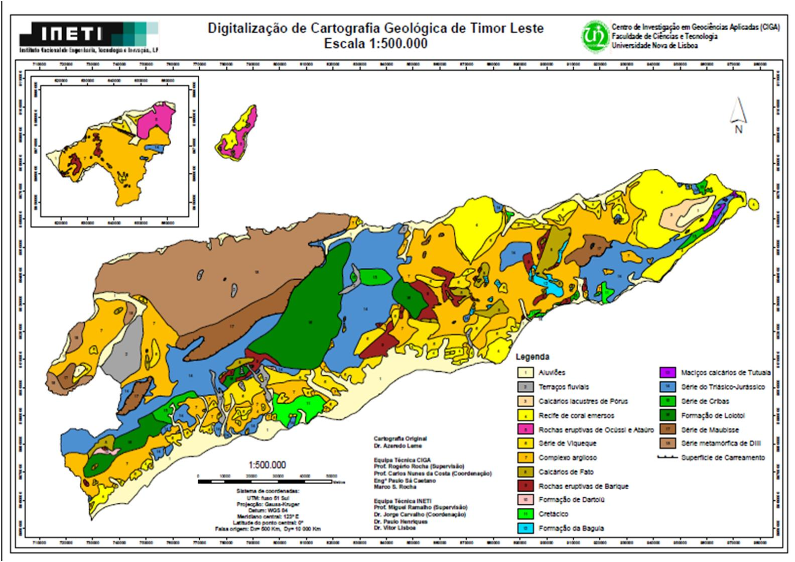 mapa geologico de lisboa VITAL VILANOVA E JOANA FERNANDES: MAPA GEOLÓGICO DE TIMOR LESTE mapa geologico de lisboa