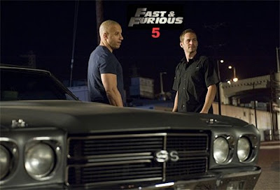Fast and Furious 5 with Vin Diesel and Paul Walker