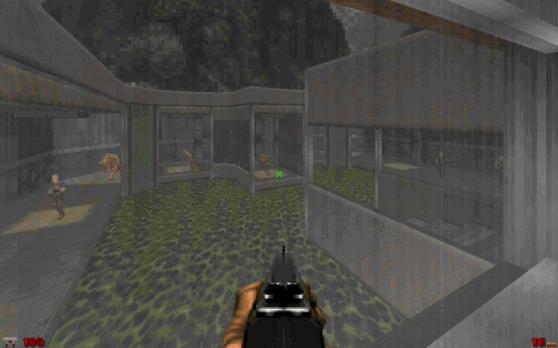 ZDoom is an enhanced port of the official DOOM source code