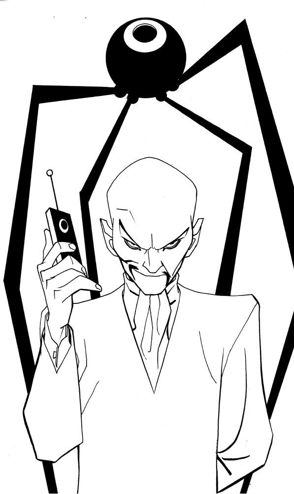 Mike Hawthorne: Comic Twart art blog, Jonny Quest's DR. ZIN