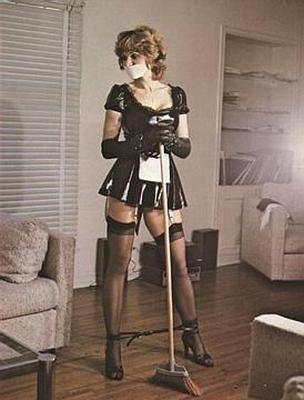 French maid rubber bondage