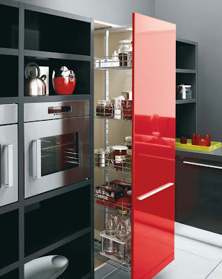 Room Decoration And Home Designs Gio Red Black And White Kitchen