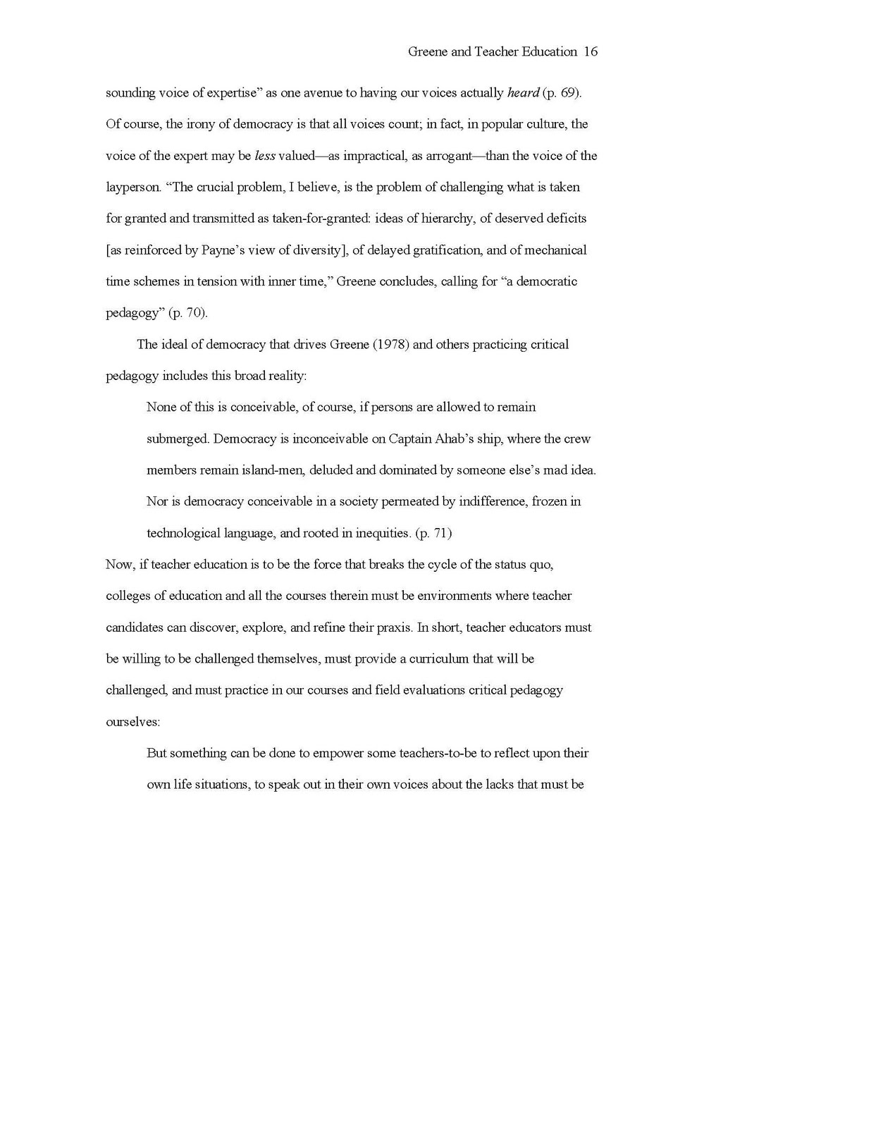 qualities of an outstanding educator essay
