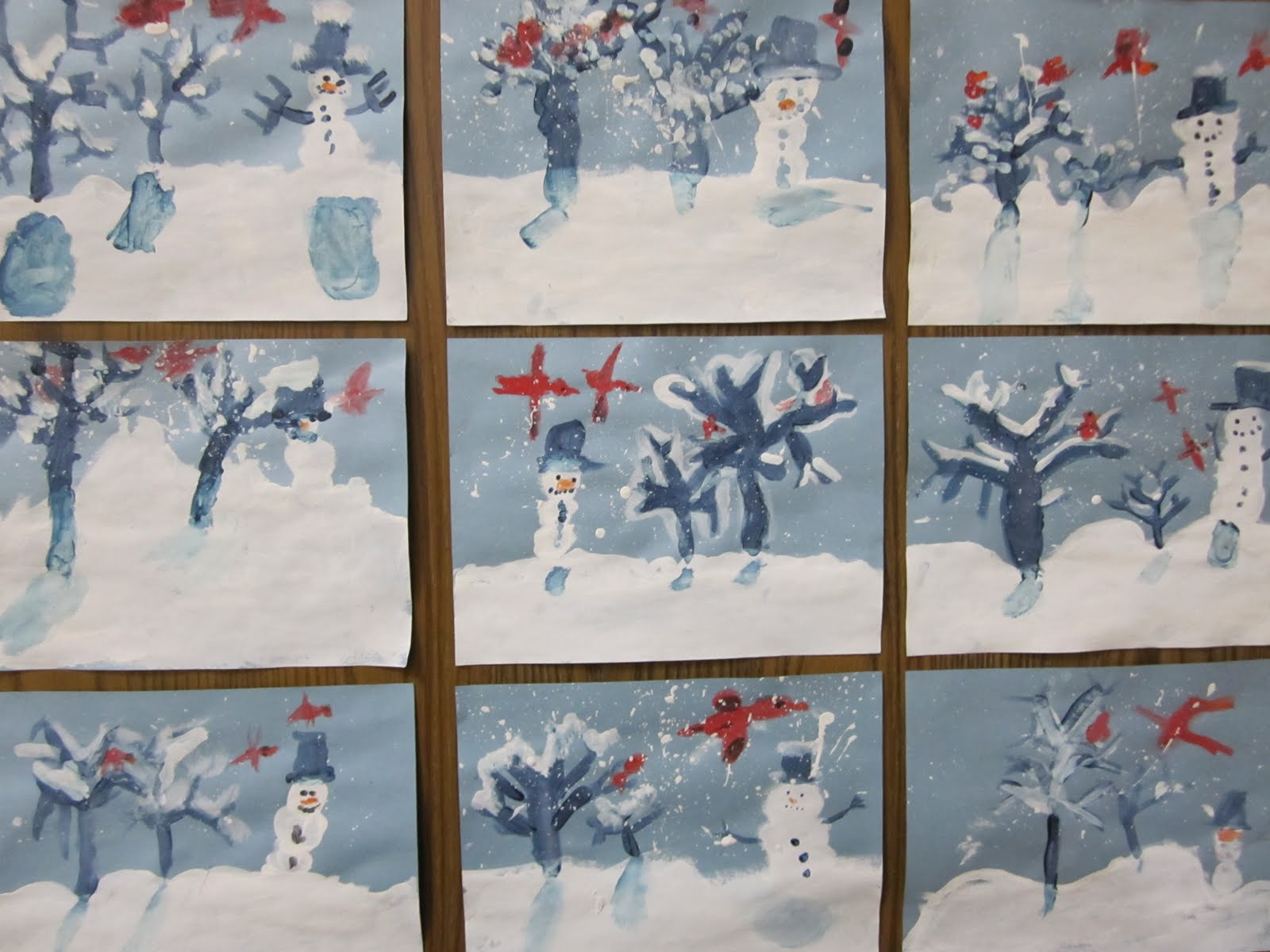 Art At East Union And More 1st Grade Winter Art