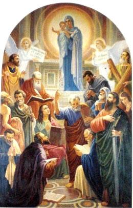Resultado de imagem para nossa senhora rainha dos apostolos