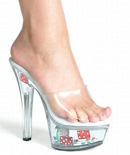 Light up stripper shoes