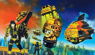 2000AD cover art by Chris Foss