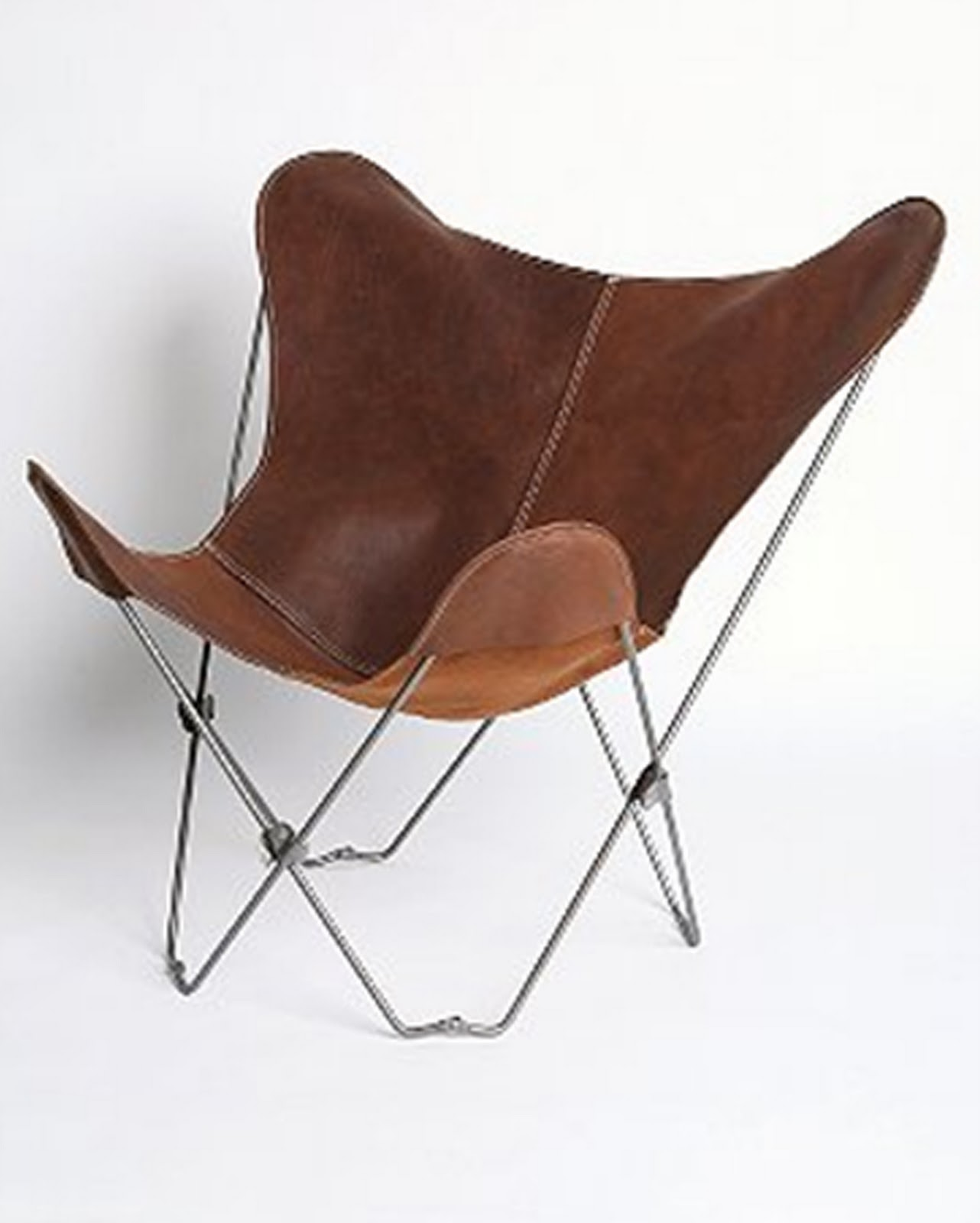 Brown Leather Butterfly Chair Rg The Shop Library Uo Lux Leather Butterfly Chair