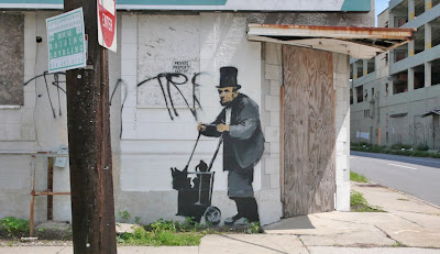Banksy New Orleans Abraham Lincoln