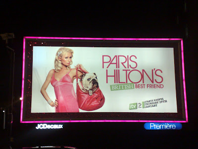 Paris Hilton London big pink billboard