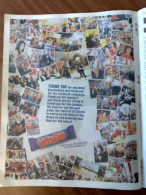 Wispa Thank You press ad