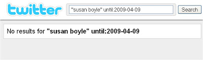 Susan Boyle no results on Twitter