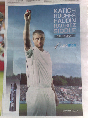 Sure Flintoff tactical ad Telegraph copy