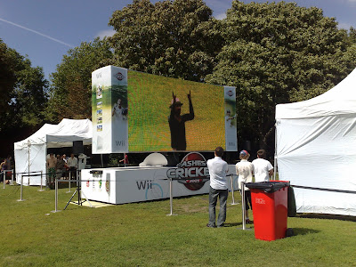 Regents Park cricket in the park giant Wii competition