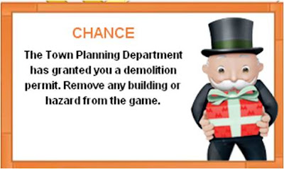 Monopoly City Streets Chance card