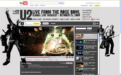 U2 live from the Rose Bowl on YouTube