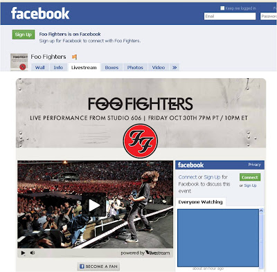 FooFighters Facebook concert