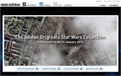 Adidas logo Death Star Super Laser application