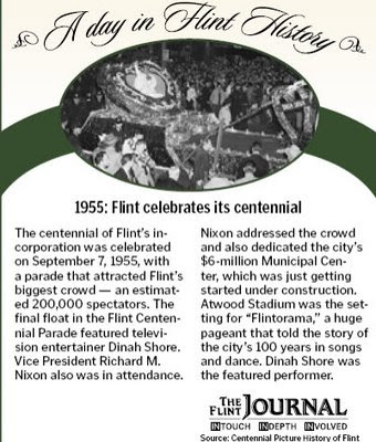 flint journal ad for 1955 event