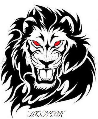 Animal Design Tattoo Lion Head Tattoo