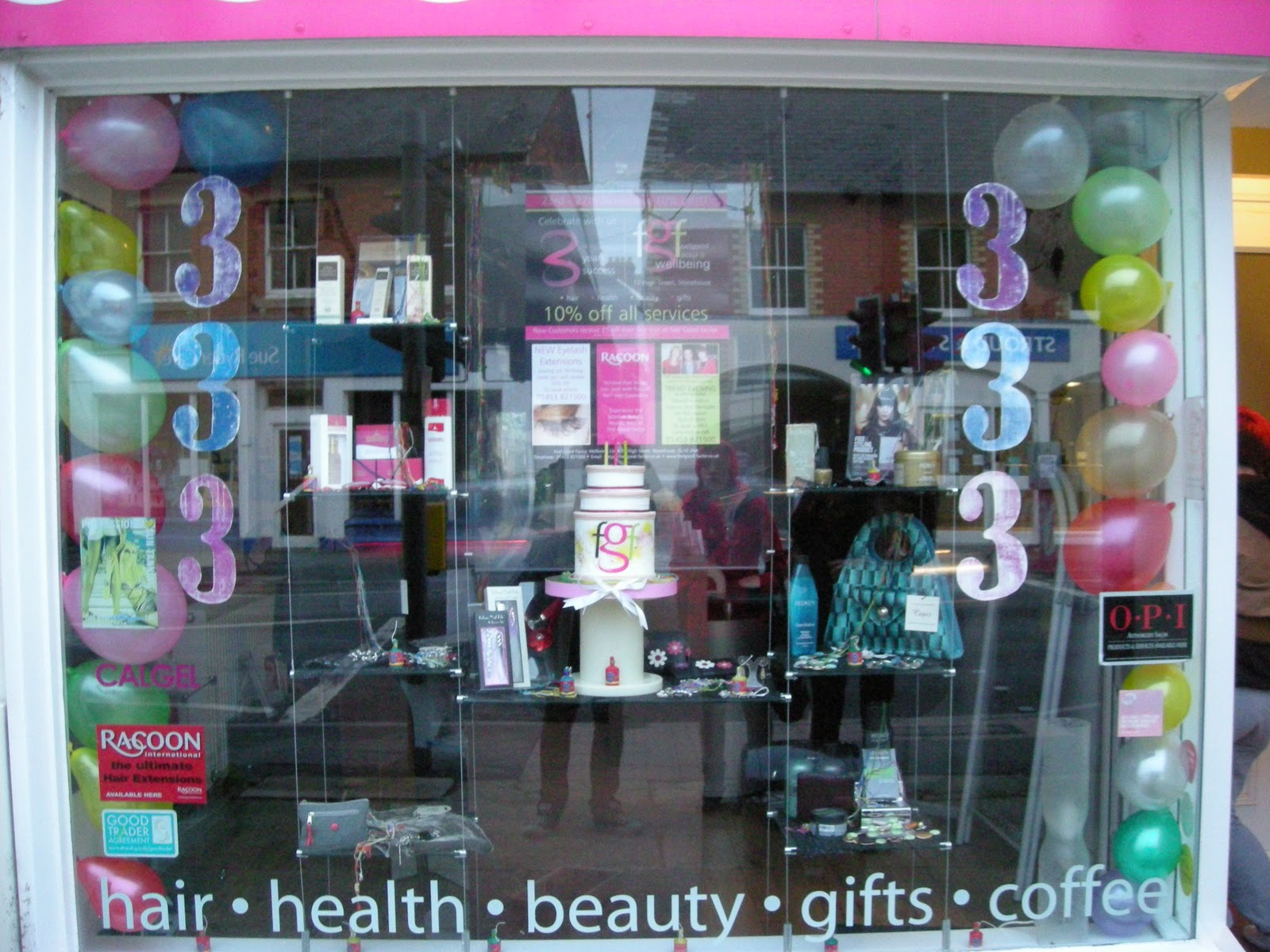 Hair Salon Window Designs Little Victories Rd Birthday Window