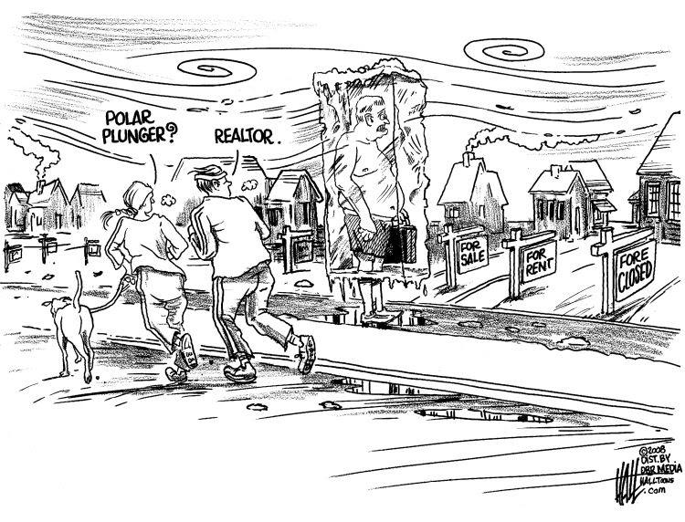 Welcome to the Halltoons Weblog: Home Foreclosure cartoons