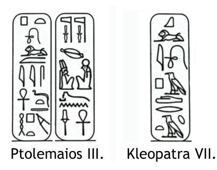 Kleopatra Hieroglyphen