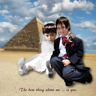 Soulmate Dreamscape photomontage for Rasha and Bassel by digital artist Nancy Gershman