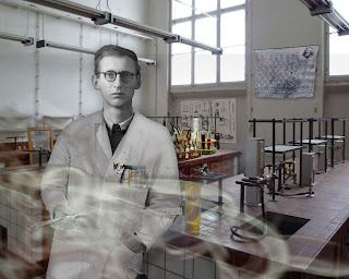 Vitaly G in his laboratory by legacy artist Nancy Gershman