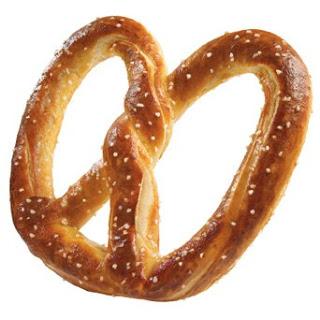 A Auntie Anne soft pretzel.