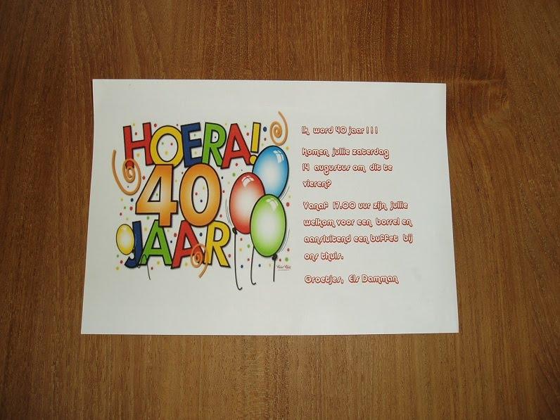 Verjaardag Man 40 Jaar