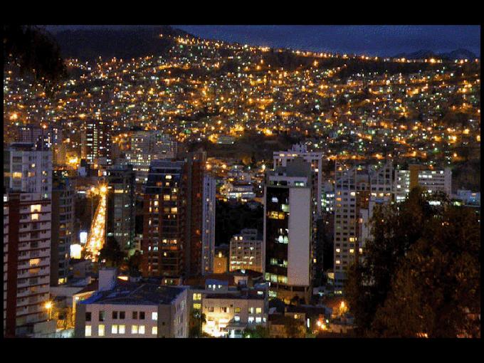 La Paz: La cobertura en luminarias llega al 80%