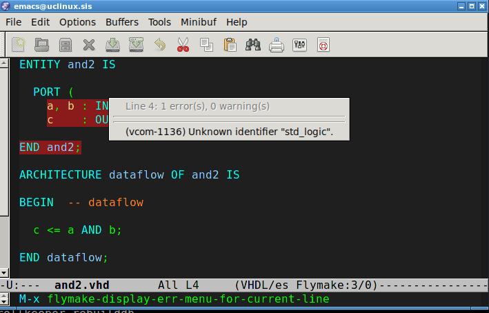 Linux is not unix: Tự động kiểm tra code VHDL trong emacs sử dụng