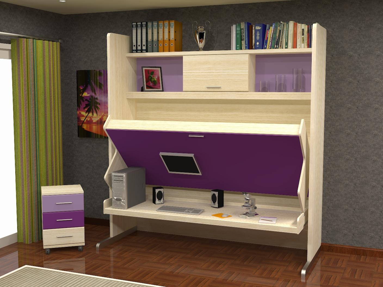 cama con abatible con con mesacama muebles cama y escritorio