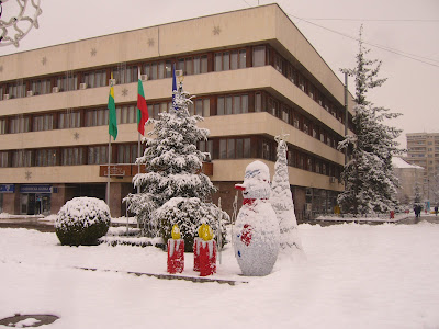Snow in Yambol