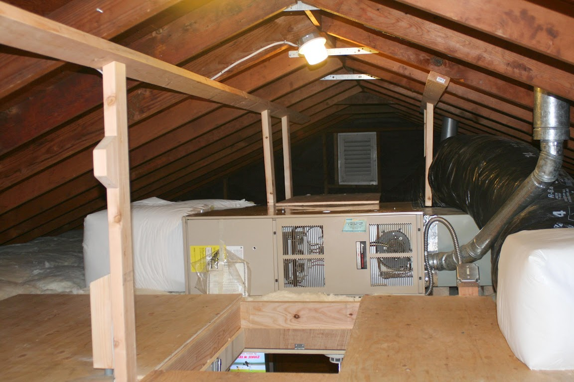 Gas Furnace Attic