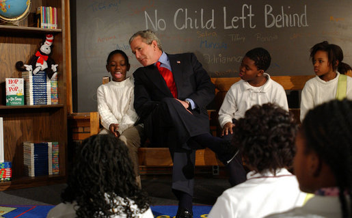 The failure of the no child left behind act of president george bush in the united states