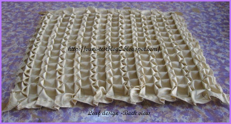 Vani's blog 2 : Front and back views of Canadian smocking