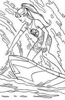 surfing barbie coloring pages - photo#9